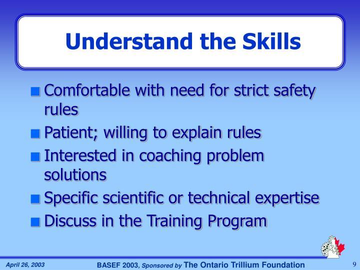 Understand the Skills