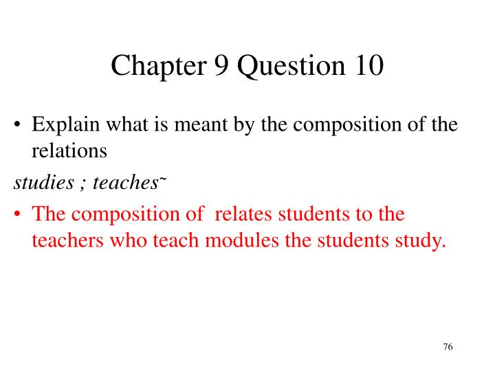 Chapter 9 Question 10