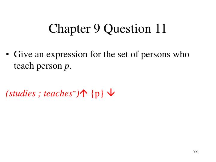 Chapter 9 Question 11
