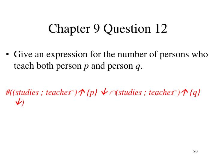 Chapter 9 Question 12