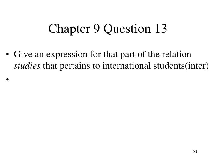 Chapter 9 Question 13