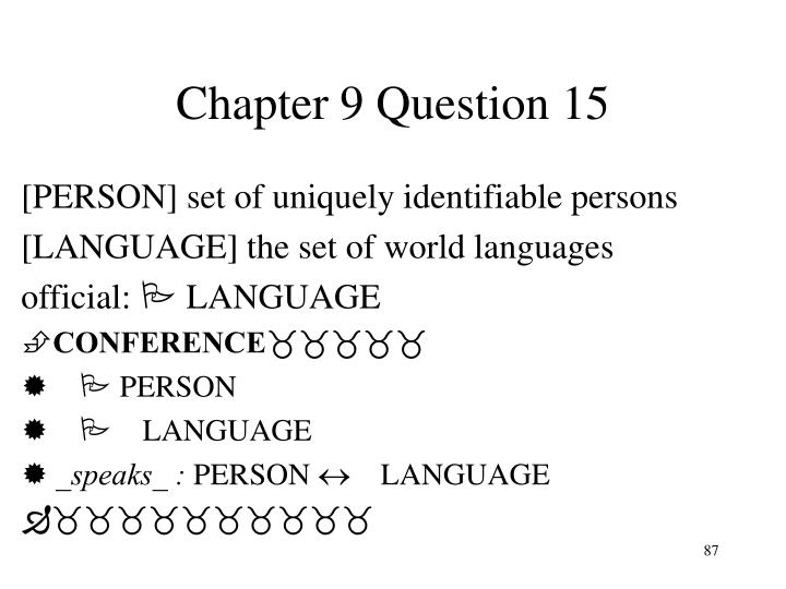 Chapter 9 Question 15
