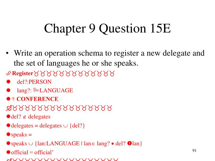 Chapter 9 Question 15E