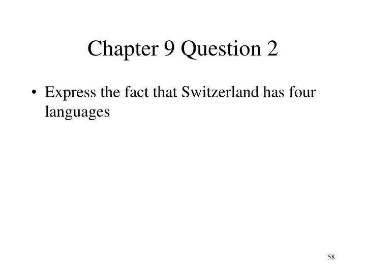 Chapter 9 Question 2