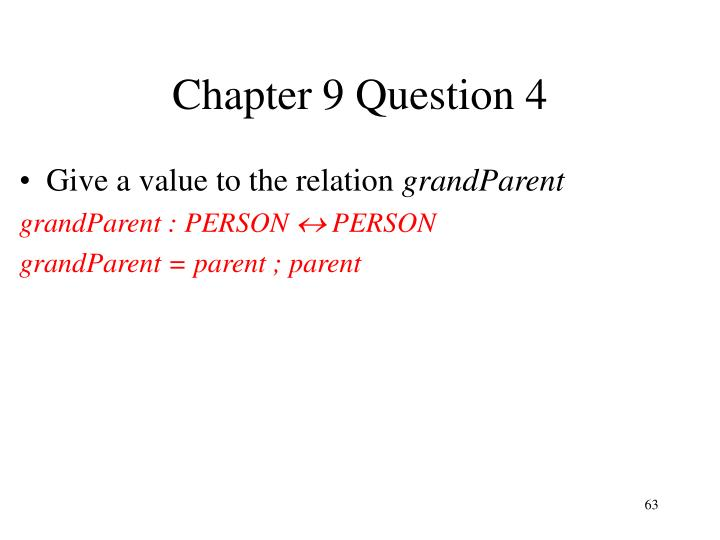 Chapter 9 Question 4