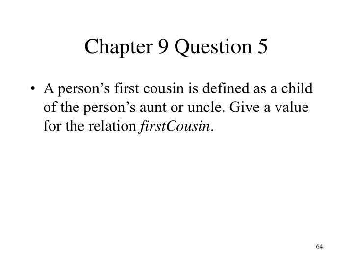 Chapter 9 Question 5