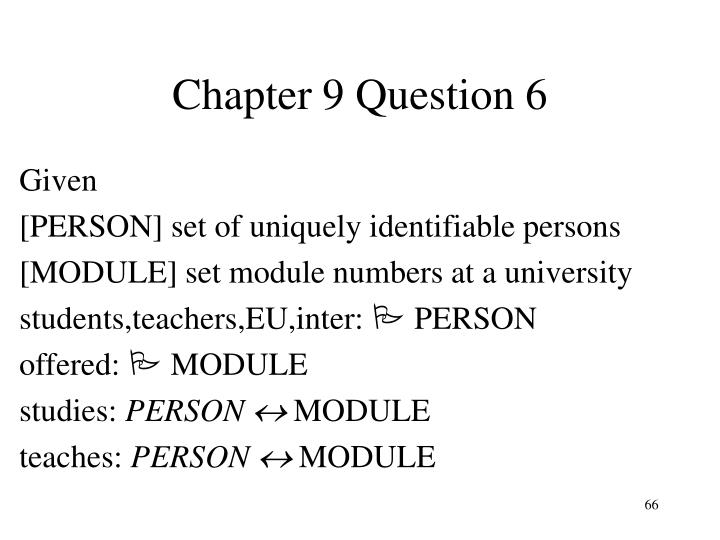 Chapter 9 Question 6