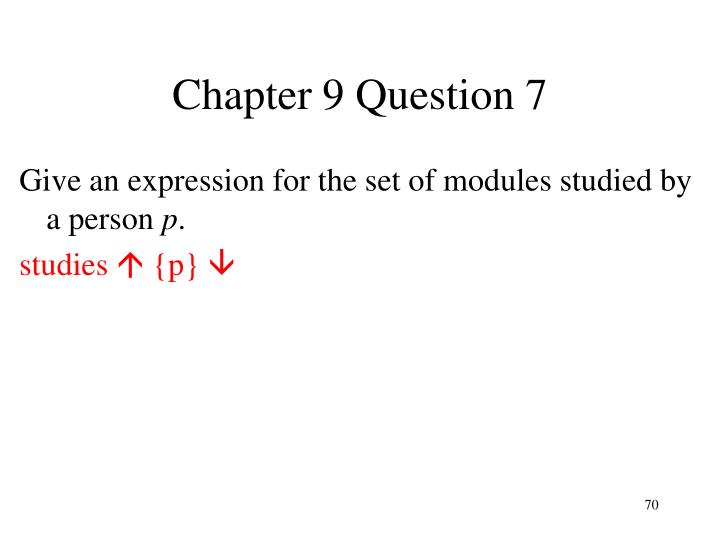 Chapter 9 Question 7
