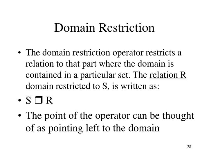 Domain Restriction
