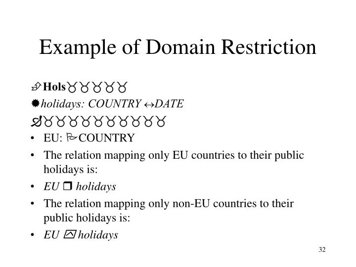Example of Domain Restriction