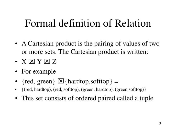 Formal definition of relation1