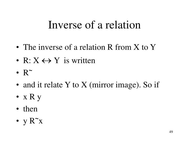 Inverse of a relation