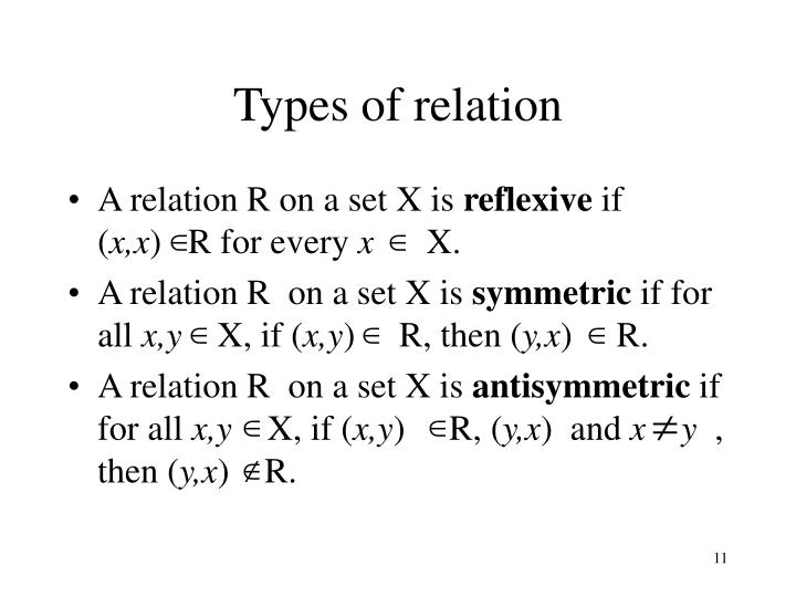 Types of relation