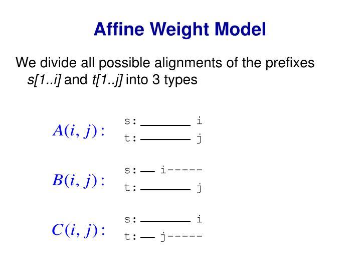 Affine Weight Model
