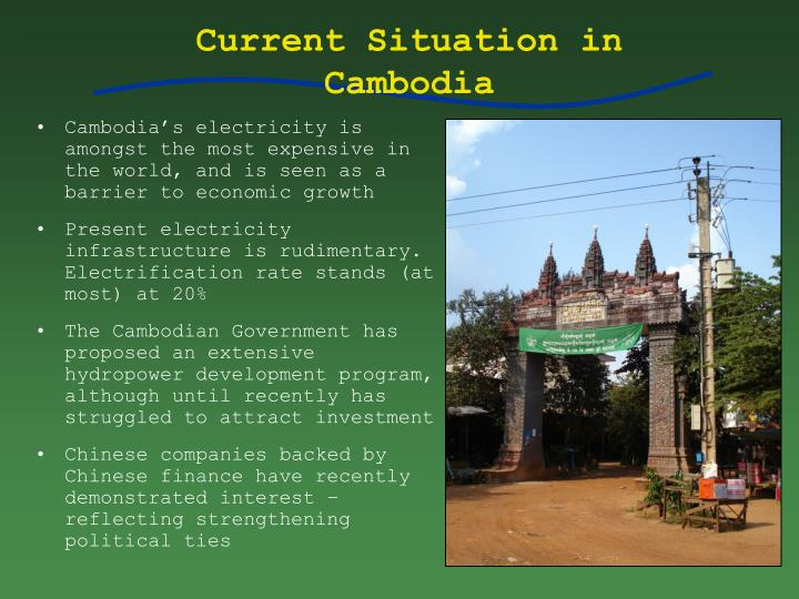 Current situation in cambodia