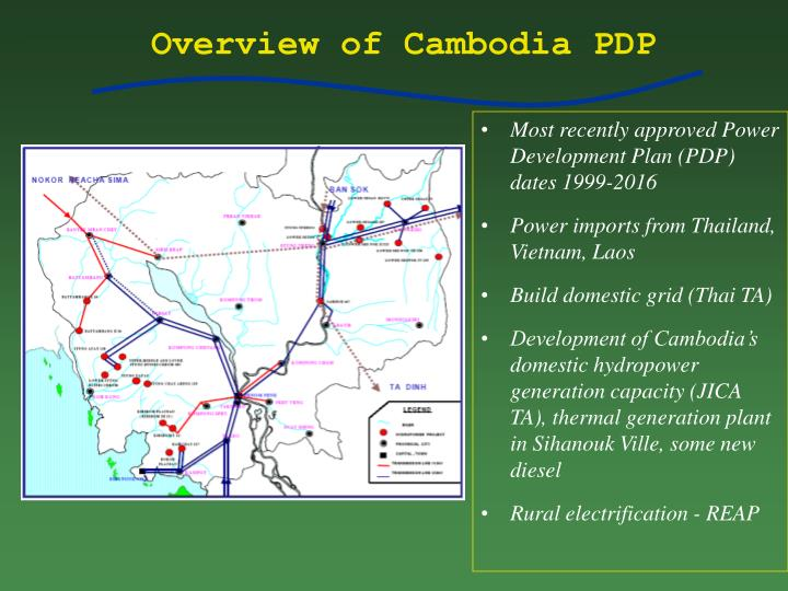 Overview of Cambodia PDP