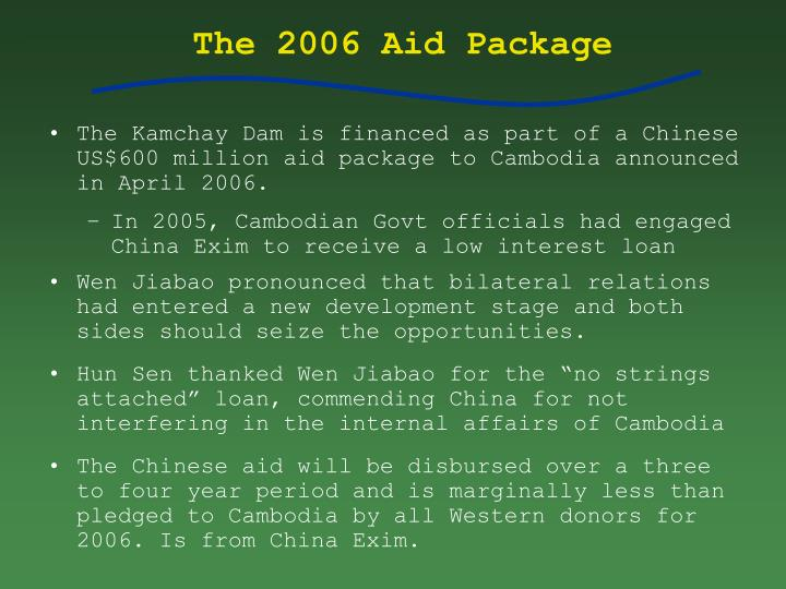The 2006 Aid Package