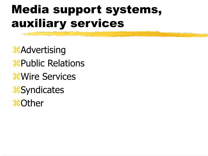Media support systems,