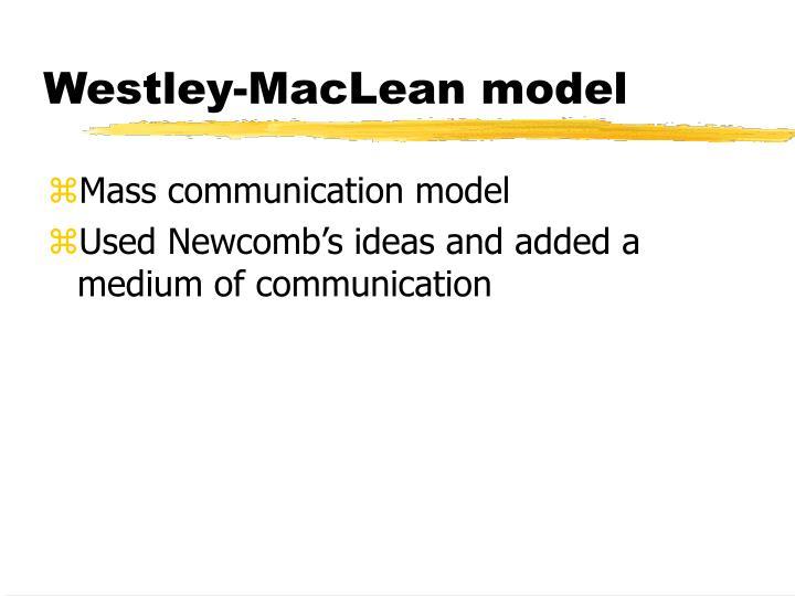 Westley-MacLean model