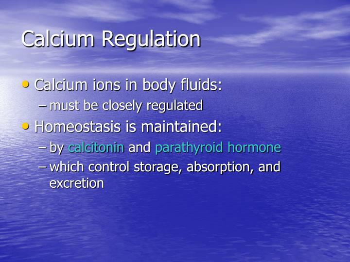 Calcium Regulation