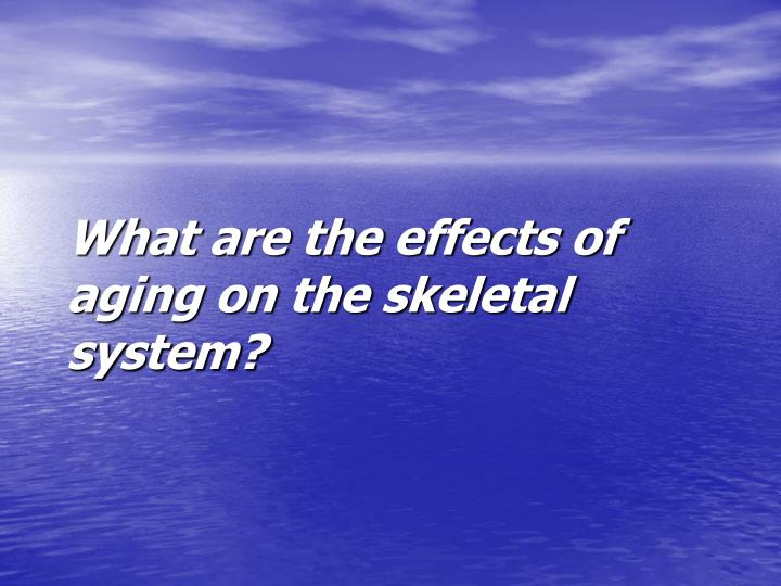 What are the effects of aging on the skeletal system?