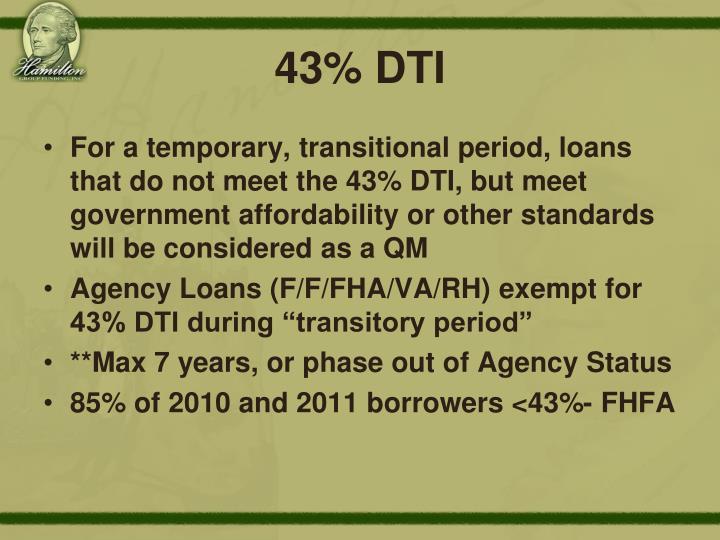 43% DTI