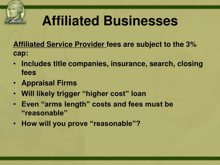 Affiliated Businesses