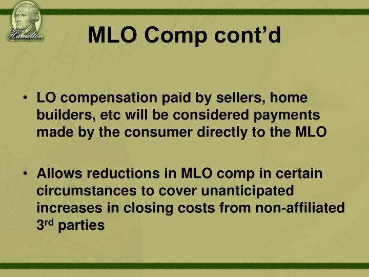 MLO Comp cont'd
