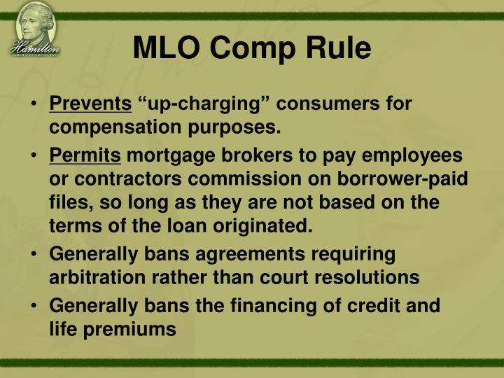 MLO Comp Rule