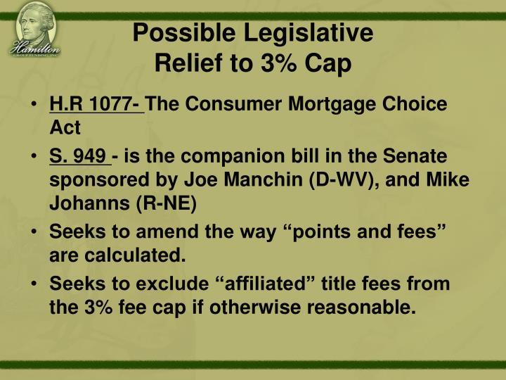Possible Legislative