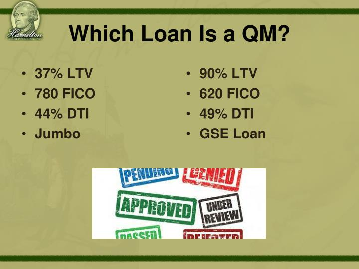Which Loan Is a QM?