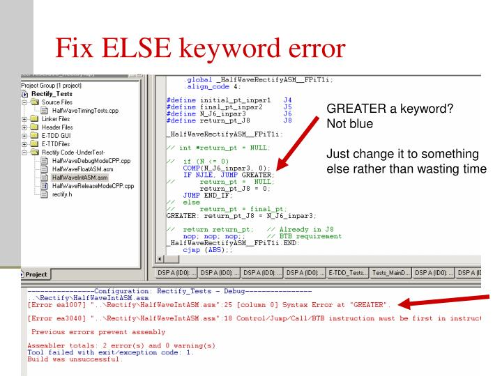 Fix ELSE keyword error