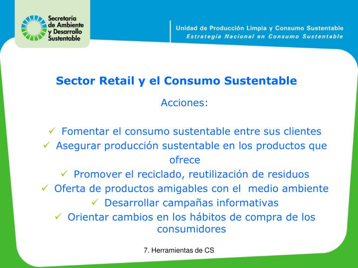 Sector Retail y el Consumo Sustentable