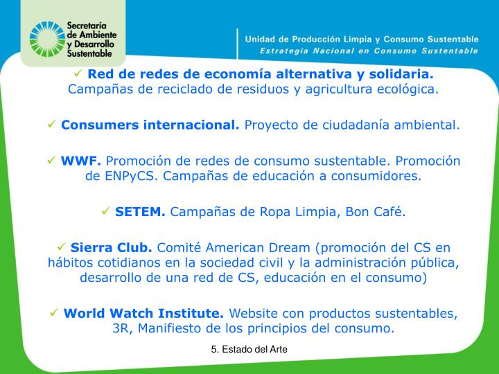 Red de redes de economía alternativa y solidaria.