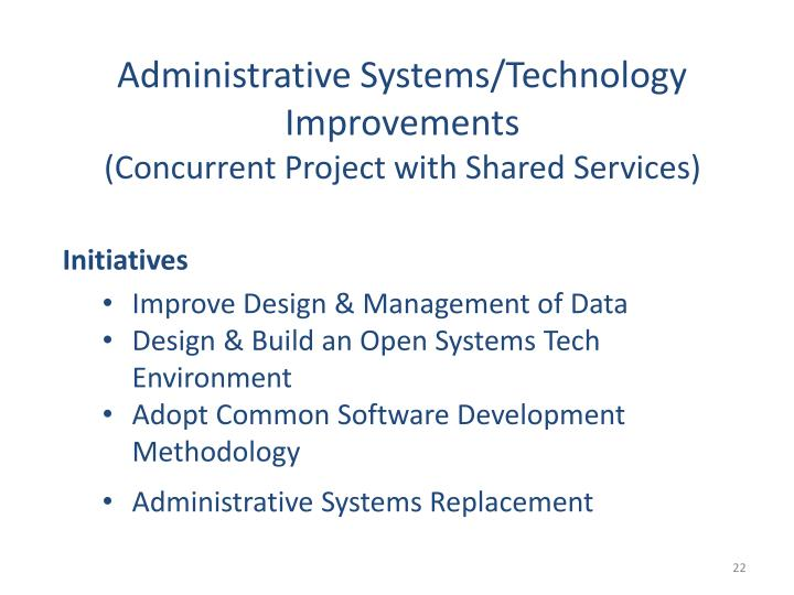 Administrative Systems/Technology Improvements