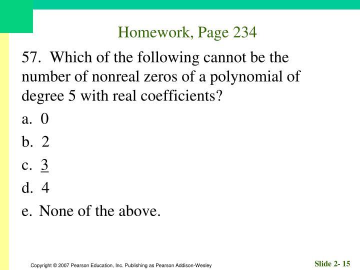 Homework, Page 234