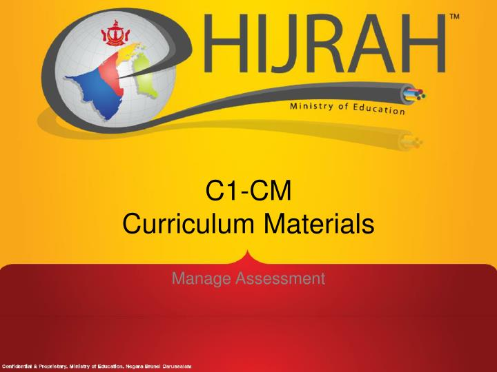 C1 cm curriculum materials
