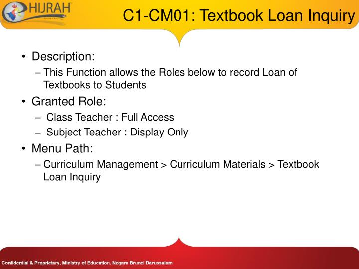 C1 cm01 textbook loan inquiry