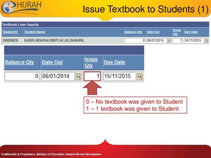 Issue Textbook to Students (1)
