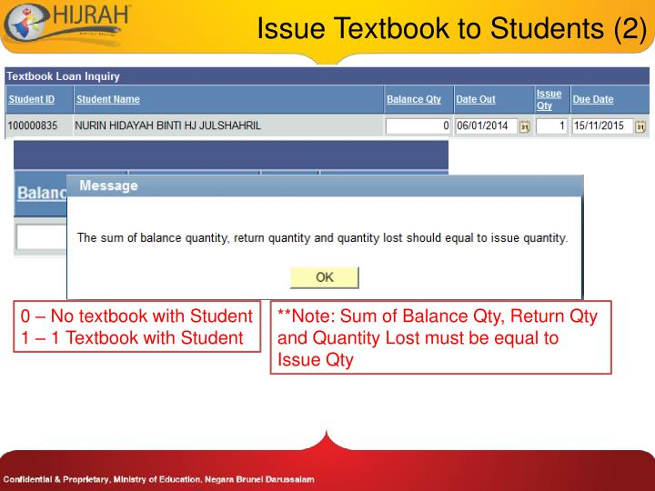 Issue Textbook to Students (2)