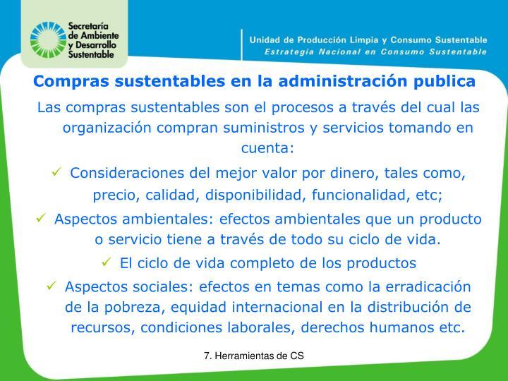Compras sustentables en la administración publica