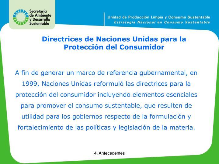 Directrices de Naciones Unidas para la Protección del Consumidor