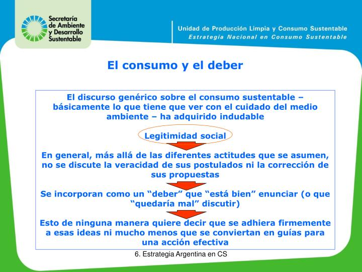 El consumo y el deber
