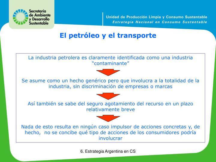 El petróleo y el transporte