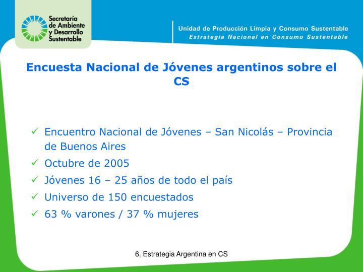 Encuesta Nacional de Jóvenes argentinos sobre el CS