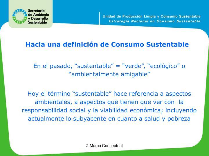 Hacia una definición de Consumo Sustentable