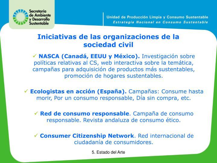 Iniciativas de las organizaciones de la sociedad civil