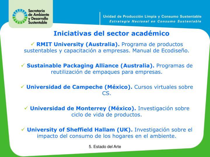 Iniciativas del sector académico
