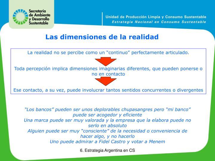 Las dimensiones de la realidad