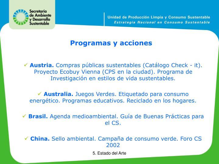 Programas y acciones